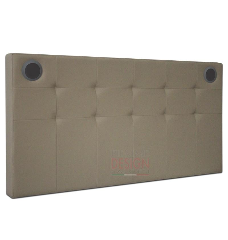 Letto testata letto sound wall impianto audio bluetooth 2 1 - Testate per letto ...